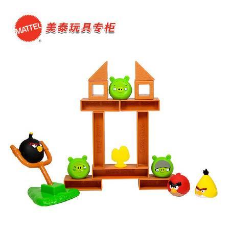 美泰 愤怒的小鸟-木桩版W2793 儿童玩具 创意玩具 桌面游戏 亲子游戏