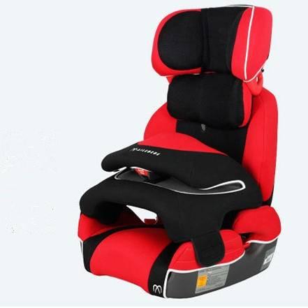 日本快美特艾乐贝贝车载儿童安全座椅三点式安全带式 9个月-12岁包邮