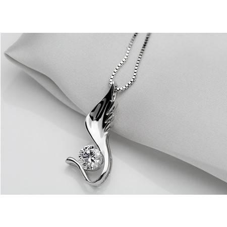 PIN·S/品尚 韩版时尚饰品 女生项链锁骨链毛衣链翅膀造型吊坠 --天使之翼 送配链