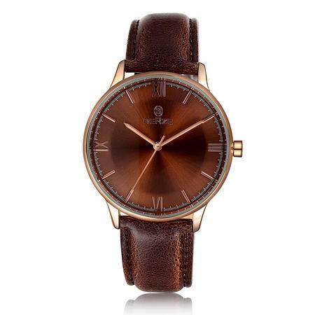 【贝捷/BERZE】韩版时尚情侣手表对表女士男士皮表带生活防水 BT153