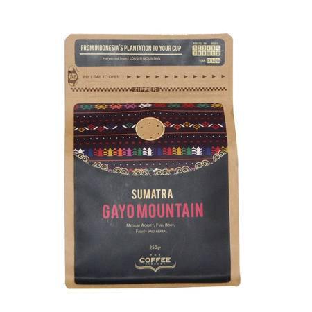 印尼进口精选烘培咖啡豆  加尤山250g/袋 香醇优质咖啡豆