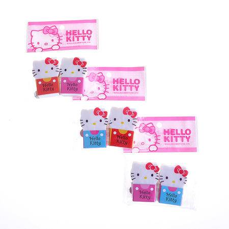 Hello Kitty儿童学生学习用品可爱造型橡皮擦换衫橡皮