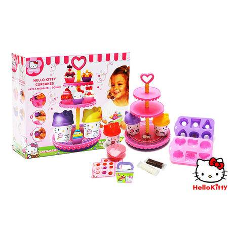 正品Hello Kitty儿童玩具蛋糕彩泥/橡皮泥模具套装