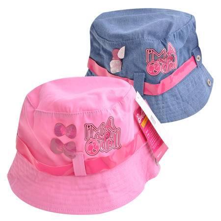 正品芭比春夏新品儿童太阳帽时尚棒球帽女童防晒帽休闲帽