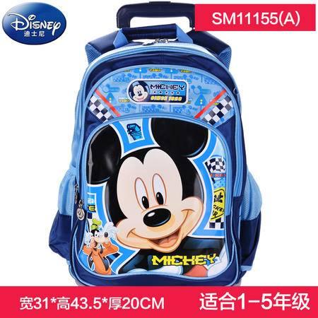 正品Disney迪士尼小学生1-5年级米奇米妮公主儿童拉杆书包可拆卸学生包