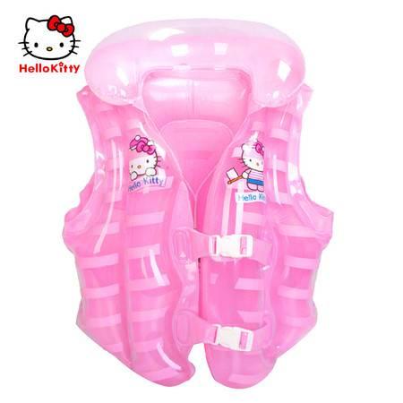 HELLO KITTY 儿童救生衣女宝宝救生圈游泳圈充气背心游泳衣 夏季新品