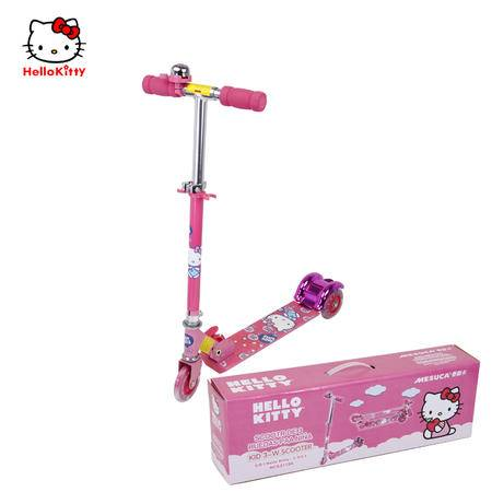 正品disney迪士尼儿童滑板车代步闪光三轮车玩具踏板车女孩男孩
