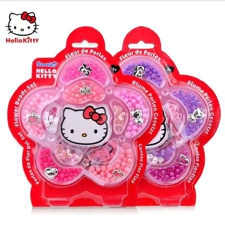 Hello Kitty凯蒂猫正品公主DIY彩珠手链项链儿童益智串珠玩具礼物