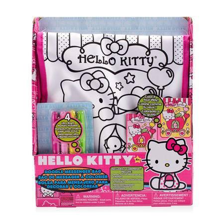 HELLO KITTY凯蒂猫时尚卡通缤纷节日儿童涂鸦包斜挎包儿童DIY玩具