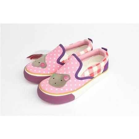 新款 正品回力童鞋 卡通款一脚蹬套脚女童低帮帆布鞋 1823