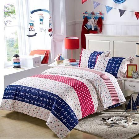 锦佩家纺 全棉四件套 床单被套枕套 纯棉公主床上用品4件套