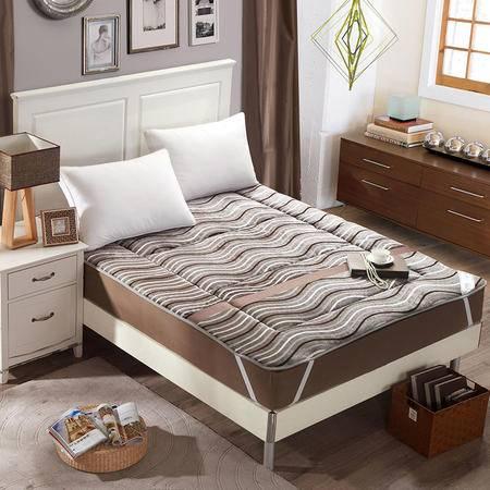 锦佩家纺 欧式奢华衍缝定型透气提花绒床垫 加厚保暖可折叠床褥子