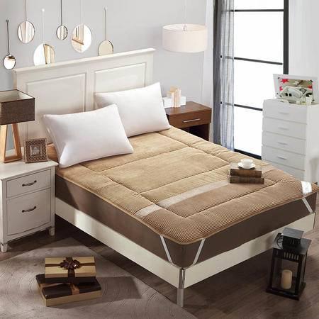 锦佩家纺 尊贵体验加厚米兰绒保暖床垫 榻榻米床褥 1.8米