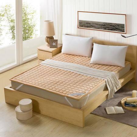 锦佩家纺 松紧带床垫绗缝包边 可折叠床垫床褥垫子 榻榻米垫 1.5米床 四季可用