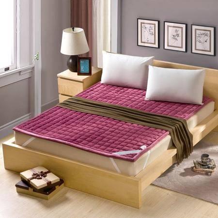 锦佩家纺 松紧带床垫绗缝包边 可折叠床垫床褥垫子 榻榻米垫 90公分 四季可用