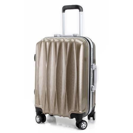 贝格斯瑞 20寸PC ABS静音万向轮时尚商务铝框亮面拉丝纹旅行硬箱拉杆箱149201