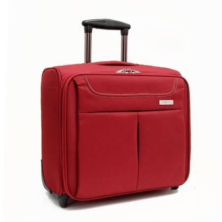 BIGTHREE贝格斯瑞 高档登机箱 拉杆箱 商务拉杆箱 行李箱 旅行箱B13985 黑色 16寸