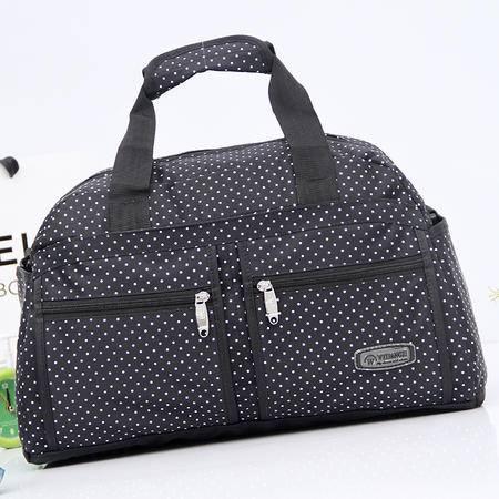 新款女士手提包旅行包女包行李包时尚百搭波点旅行袋单肩斜跨包潮3643