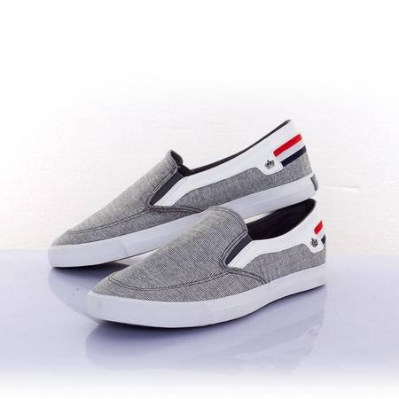 一步赢帆布鞋2015新款休闲低帮米字帆布鞋男士鞋一脚蹬懒人鞋5217