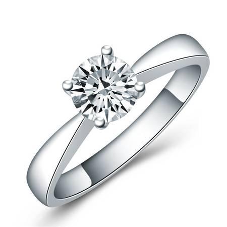 GZUAN古钻 宠爱 70分18K金钻石戒指女戒