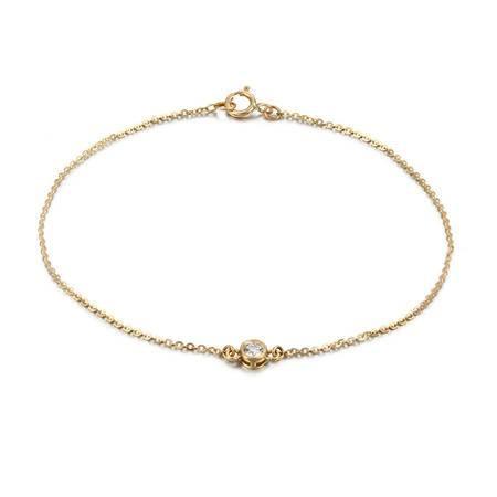 GZUAN古钻 可爱米奇 10分18K黄金钻石手链