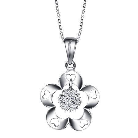 GZUAN古钻 11分18K金钻石吊坠(赠18寸S925银镀金项链)
