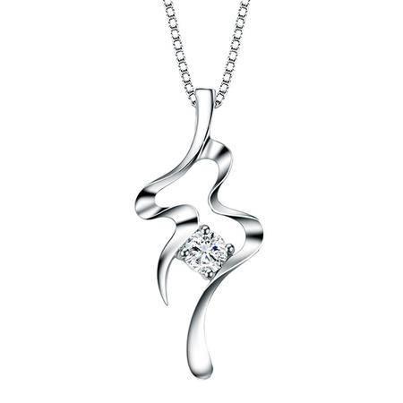 GZUAN古钻 15分18K金钻石吊坠(赠18寸S925银镀金项链)