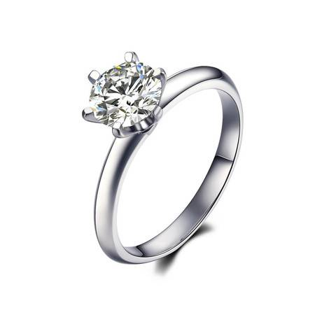 GZUAN古钻 纯粹 1克拉18K金钻石戒指女戒