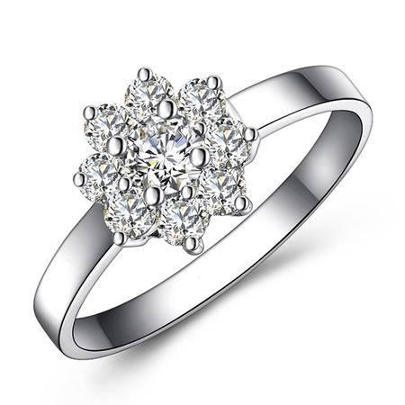 GZUAN古钻 46分18K金钻石戒指女戒