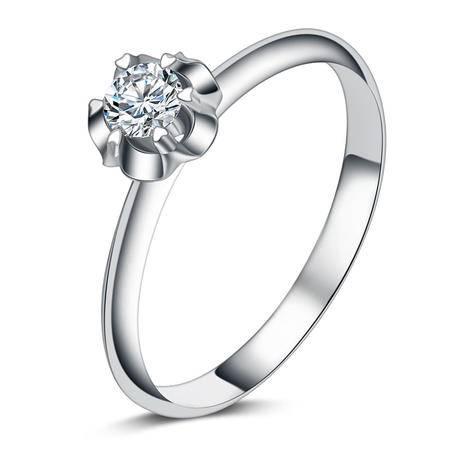 GZUAN古钻 19分18K金钻石戒指女戒