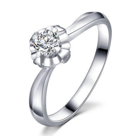 GZUAN古钻 24分18K金钻石戒指女戒