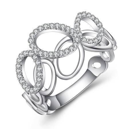 GZUAN古钻 生命之缘 14K金钻石戒指女戒 J30761