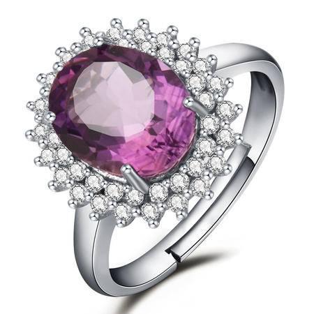 BF璀尚 初见 紫晶女戒指 C0072
