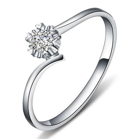 GZUAN古钻 柔情蜜意 14分18K金钻石女戒指 J1314
