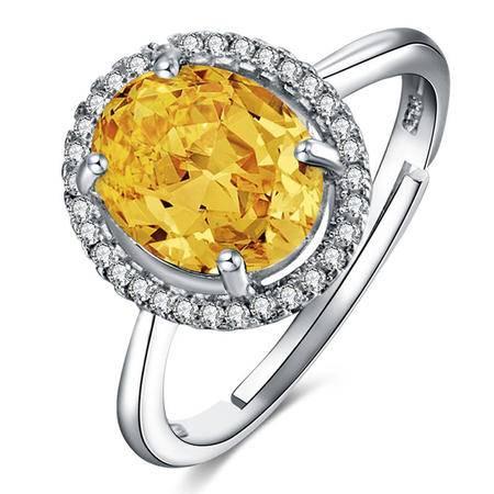 BF璀尚 拥爱 2.1克拉黄水晶戒指 C0081