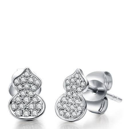 GZUAN古钻 初心 18K金钻石耳钉E3029