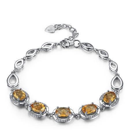 BF璀尚 典雅 黄水晶手链 C0107