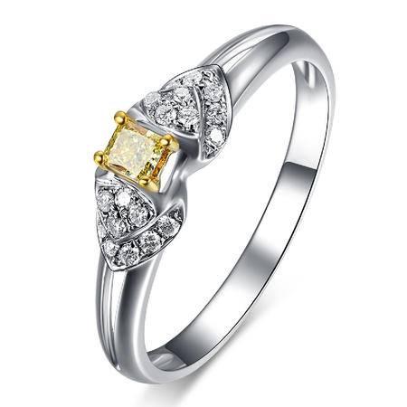 GZUAN古钻  皇妃 黄钻10分18K钻石女戒指  LFJ0002