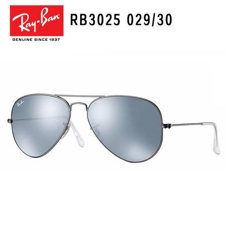Ray-Ban 雷朋 银框银膜 时尚男款太阳镜墨镜  RB3025-029/30-58