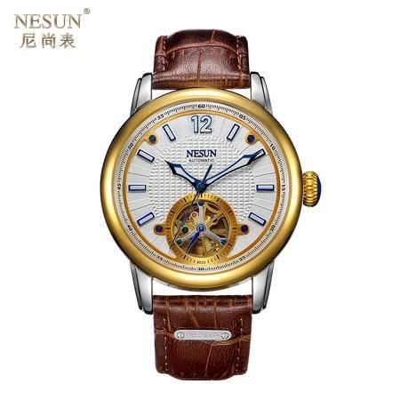 尼尚(Nesun)手表 男士表 自动机械表 镂空飞轮男式表 机械男士表 MN9033C