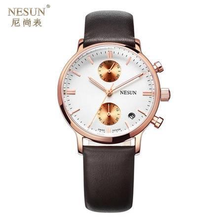 尼尚 (Nesun) 葡萄牙系列手表 商务休闲时尚 多功能石英情侣表 8601B