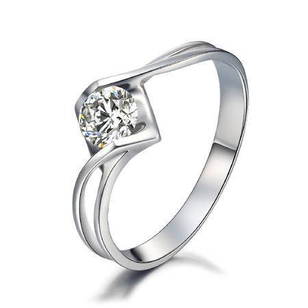 GZUAN古钻  情缘 40分18K金钻石女戒指 J1311