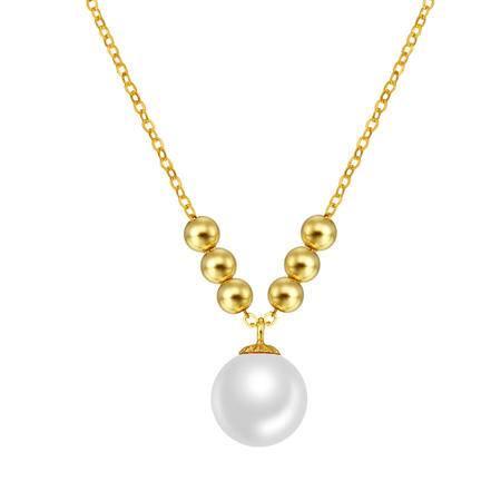 BF璀尚 18K黄金淡水珍珠套链 可调节珍珠项链