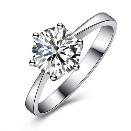 GZUAN古钻 凝爱 18K金钻石戒指女戒 NJ1002