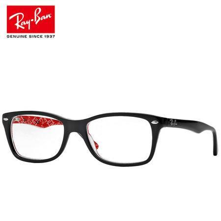 RayBan 雷朋眼镜框亚洲定制外黑内红RX5228F 2479 男女近视眼镜架