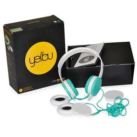 韩国原装进口 Yellou头戴式耳机/个 idol时尚潮流 炫彩有线耳机