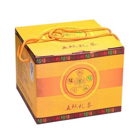 中茶 云南普洱 9年陈五福礼茶500g/饼*5/套 普洱生茶 品质卓著 寓意深远(足2.5公斤)