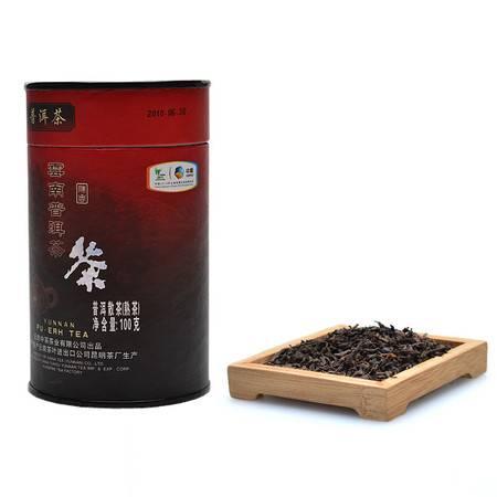中茶 云南普洱茶 熟茶 散茶 6年陈Y0515罐装熟普洱100g/罐 陈香显著 中粮荣誉出品