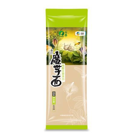 中粮 山萃 桑叶魔芋面420克/袋(细面)唤醒主食活力 更多膳食纤维 更高生活品质