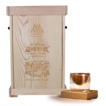 中茶 黑茶园 安化黑茶叶 百年木仓之K7-9崖畔野放金花茯砖380克/盒*6/提雅致木盒装